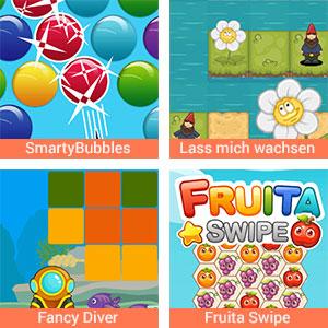Mahjong, Candyland und weiter Spiele kostenlos online auf urbia.de spielen.
