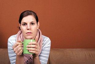Frau trinken Tee