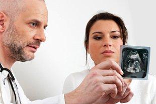Arzt Frau Ultraschallbild