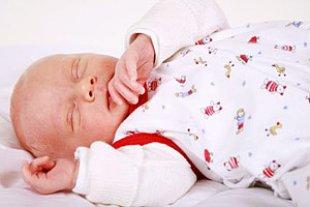 Baby schlafend Schlafsack