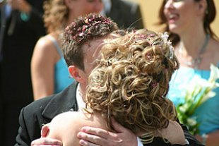 Brautpaar Kuss pantherSonja Bladt