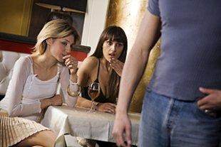 Frauen Cafe Flirt