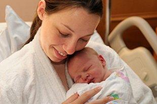 Mutter Neugeborenes Krankenhaus