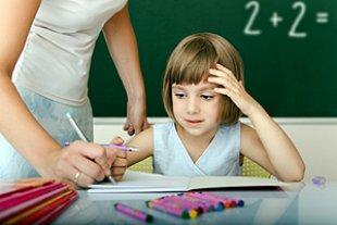 Kind Lehrerin Korrektur