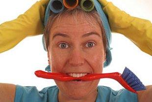 Frau putzen Pitopia