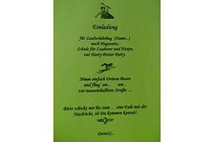 Mottoparty Potter Einladung Moeller