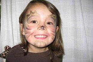 Karneval Leopardin Portrait Mattukat