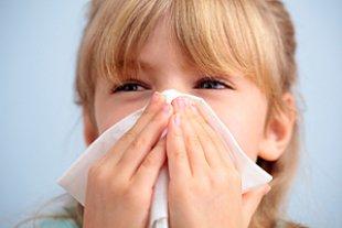 Mädchen Erkältung