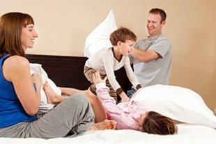 Familie Hotel Kissenschlacht