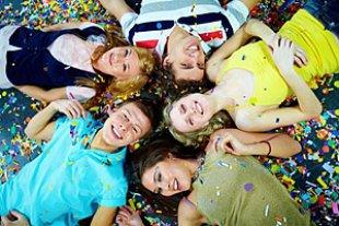 Jugendliche Party Konfetti