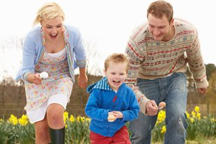 Familie Wiese Eierlauf Ostern