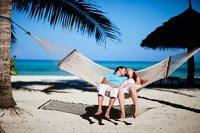 Paar Hängematte Insel Strand