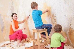 Mutter Kinder renovieren