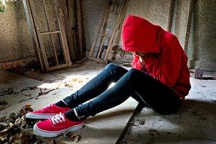 Jugendlicher traurig