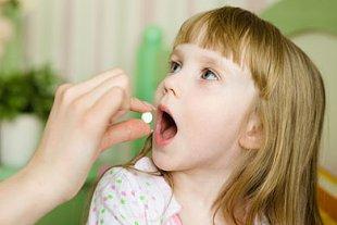 Mädchen Tablette
