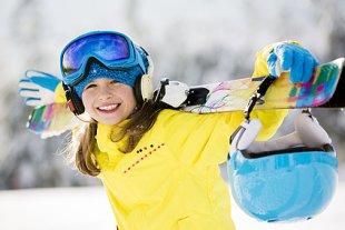Mädchen Skiausrüstung