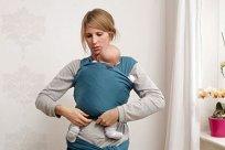 Baby 1x1 Tragetuch Kreuztrage