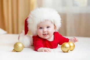Baby erstes Weihnachten Mütze