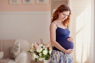 Schwangere glücklich