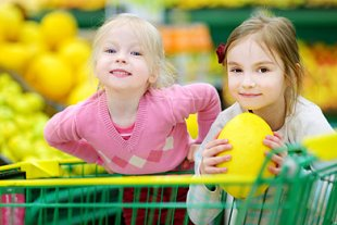 Kinder entspannt einkaufen Teaser