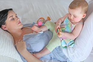 Baby Mutter Einsamkeit