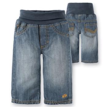 Jeans mit Strickbund