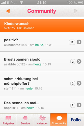 App: Community