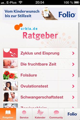 App: Ratgeber Übersicht