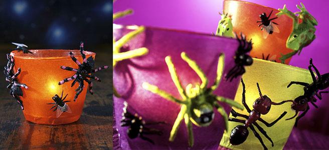 Teelicht mit Spinnenbeinen