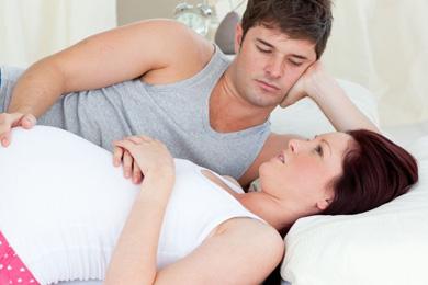 Paar schwanger warten