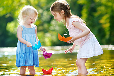 Kinder Entspannung Natur
