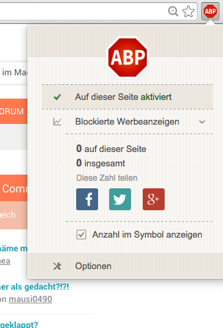 Ad Blocker haken
