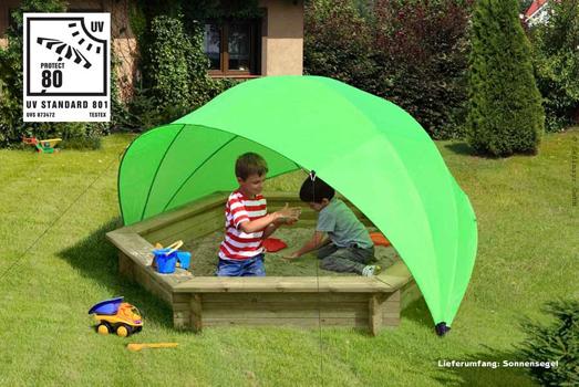 Sonnenschutz für Sandkasten oder Planschbecken