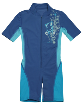 Schwimmanzug in blau