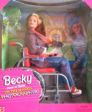 Barbie im Rolli