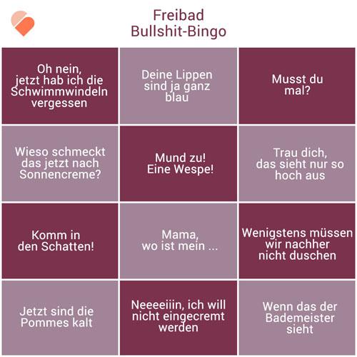 Bullshitbingo-Freibad
