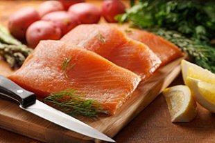 Lachsfilet Messer Kochen