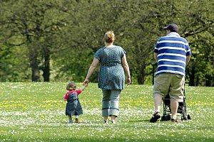 Eltern uebergewichtig Kind Park