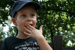 Junge Hand vor Mund panther Silke Brenner