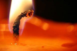 Kerze Docht
