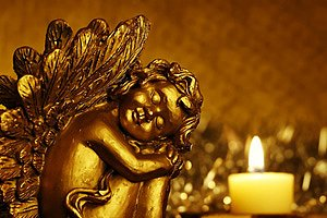 Weihnachtsengel Gold