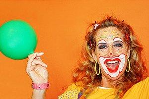 Frau Karneval Clownverkleidung
