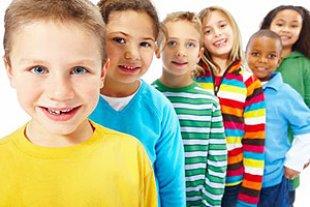 bunte Kinder Reihe