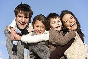 Familie gluecklich