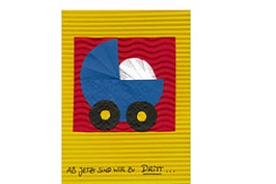 Geburtskarte Kinderwagen