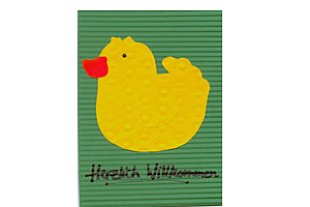 Geburtskarte Ente
