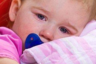 Kleinkind krank und muede