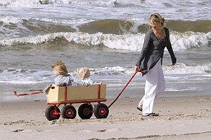 Zeeland Strand Mutter Kinder
