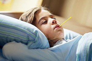 krankes Kind Fieber