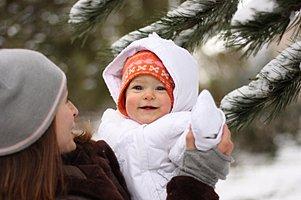 Baby Mutter Schneeanzug Winter